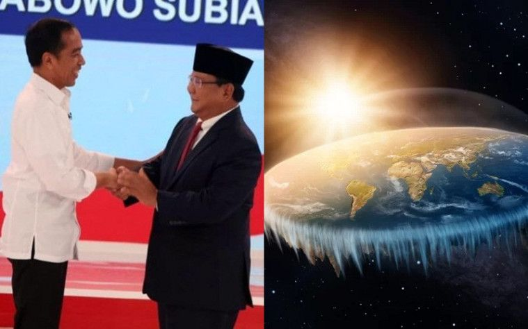 Nggak Ketinggalan Panasnya Debat Capres, Penganut Bumi Datar Memberikan Pencerahan Untuk Jokowi dan Prabowo! | Keepo.me