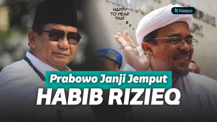 Di Hadapan Santri Prabowo Janji Pulangkan Habib Rizieq