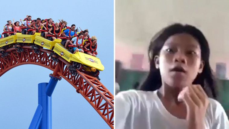Tak Kesampaian Naik Roller Coaster, Apa yang Dilakukan Siswi Ini Bikin Ngakak. Boleh Juga Idenya! | Keepo.me