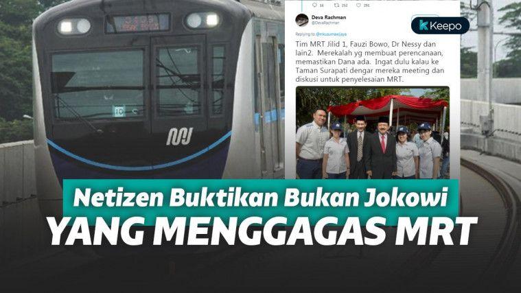 Beredar Bukti Foto Bantah Jokowi Kalau MRT Gagasannya, Ahli Tata Kota : Jokowi Tak Ada Peran | Keepo.me