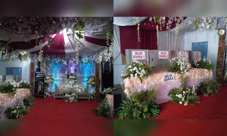Luar Biasa, Untuk Menarik Warga Sebuah TPS Dihias Dekor Ala Resepsi Pernikahan | Keepo.me