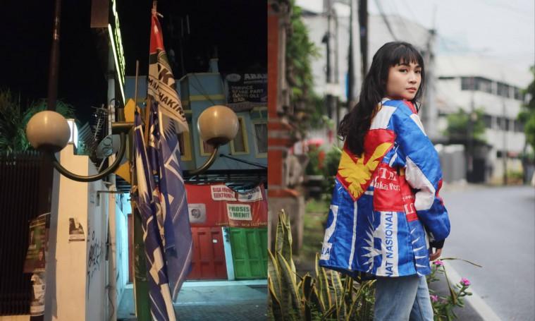 Antimainstream, Pria Ini Sukses Bikin Jaket Dari Bahan Bendera  Bekas Kampanye Pemilu | Keepo.me