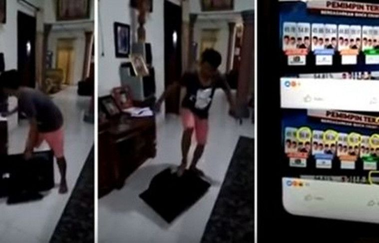 Pria Ini Hancurkan TVnya Karena Tidak Terima dengan Hasil Quick Count di Tv yang Bilang Prabowo Kalah | Keepo.me