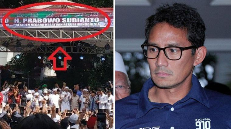 Tak Hadiri Syukuran Kemenangan Prabowo, Nama Sandiaga Uno Tak Ada di Spanduk. Ada Apa? | Keepo.me