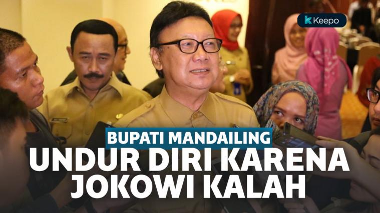Kirim Surat Pengunduran Diri ke Presiden Karena Jokowi Kalah di Daerah, Bupati Mandailing Natal Dipanggil Mendagri | Keepo.me