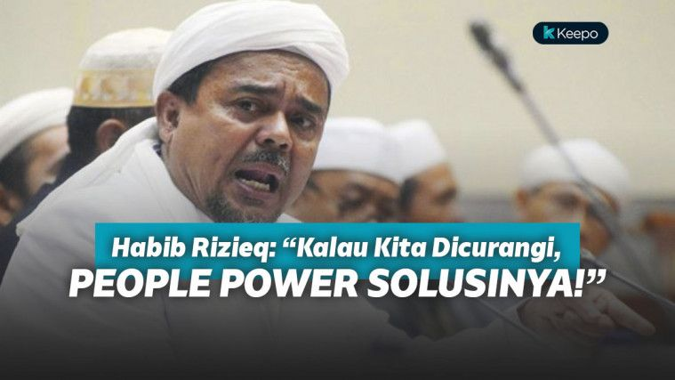 Muncul di Saluran Youtube FPI, Habib Rizieq Suarakan Perlawanan Lewat People Power! | Keepo.me