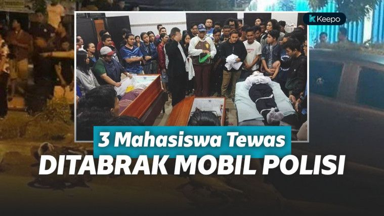 5 Mahasiswa Jadi Korban Tabrak Mobil Oknum Polisi, 2 Meninggal Seketika | Keepo.me