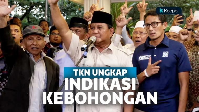 TKN Jokowi Ungkap Poin-Poin Indikasi Kebohongan BPN Prabowo Soal Real Count, Benarkah? | Keepo.me