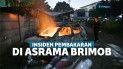 Mobil Asrama Brimob Petamburan Dibakar Massa Demo
