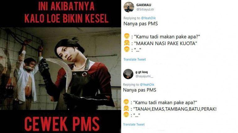 Kocak! Deretan Drama Netizen Ketika Nanya Cewek Lagi PMS
