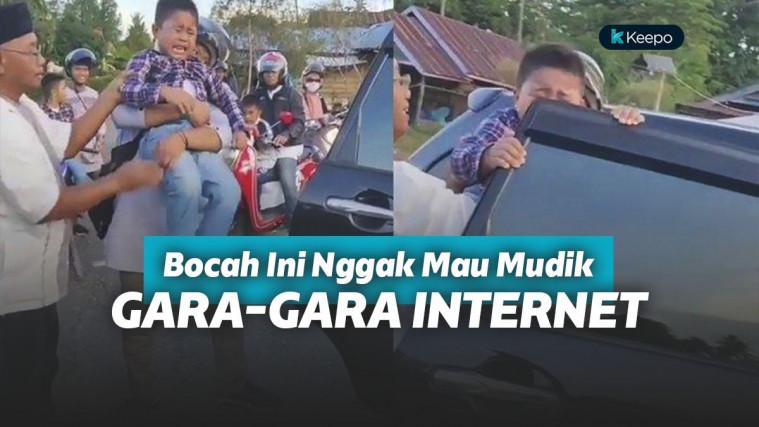 Bocah Nangis Saat Diajak Mudik ke Kampung Kakeknya Karena Tak Ada Internet! Ada yang Gini Juga?