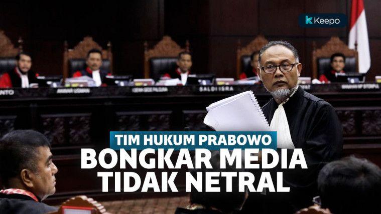 Tim Prabowo-Sandi Bongkar Media Yang Tidak Netral Saat Pilpres di MK