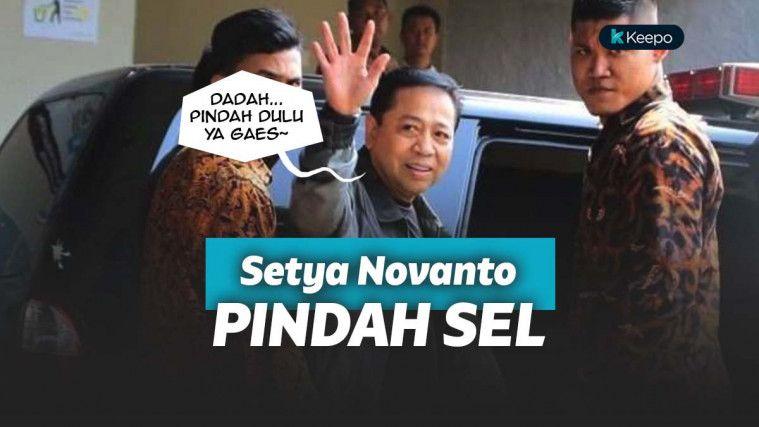 Setya Novanto pindah tempat tahanan