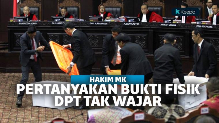 Hakim MK pertanyakan bukti fisik 17,5 juta DPT tak wajar
