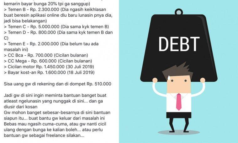 Terlilit Utang Rp 50 Juta, Cowok Ini Malah Ngemis Ke Netizen untuk Melunasi! | Keepo.me