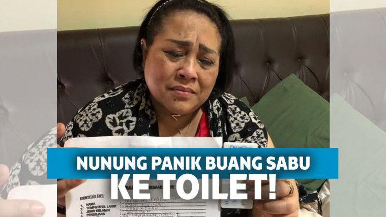 Panik! Digerebek Saat Lagi BAB, Nunung Buru-buru Buang Sabu ke Toilet | Keepo.me