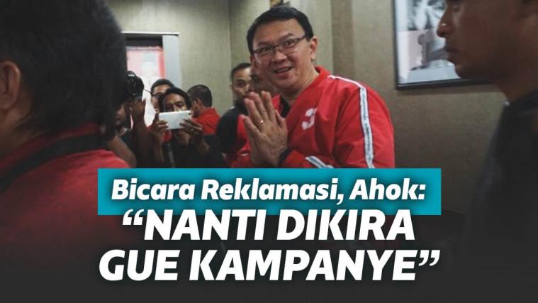 Takut Dikira Anies Sedang Kampanye Jadi Gubernur Lagi, Ahok Hentikan Ucapannya Soal Reklamasi | Keepo.me