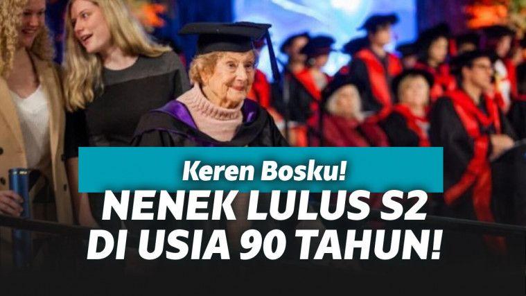 Pendidikan Tidak Kenal Usia, Nenek Ini Berhasil Tamat S2 di Usia 90 Tahun! | Keepo.me