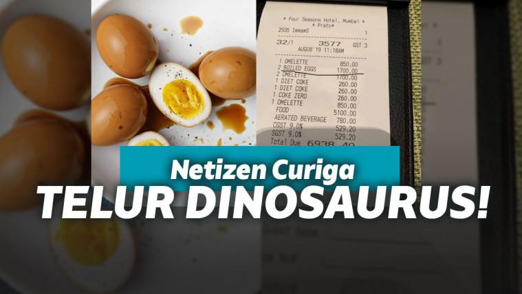 Dua telur rebus ini dijual sampai ratusan ribu rupiah