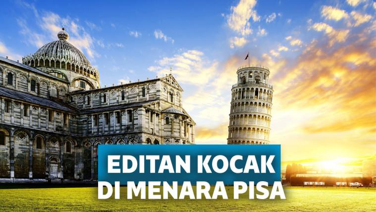 Minta Foto di Menara Pisa Diedit, Hasilnya Bikin Ketawa