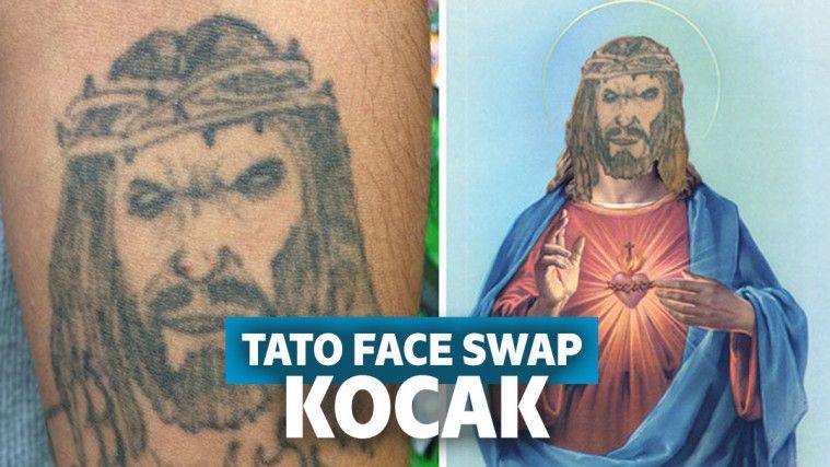 Bukannya Keren, 12 Tato Face Swap Ini Malah Terlihat Absurd