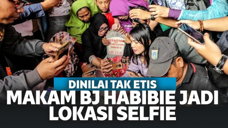Makam BJ Habibie Jadi Lokasi Selfie, Kemensos Ambil Langkah Tegas Kerahkan Satpam Khusus! | Keepo.me