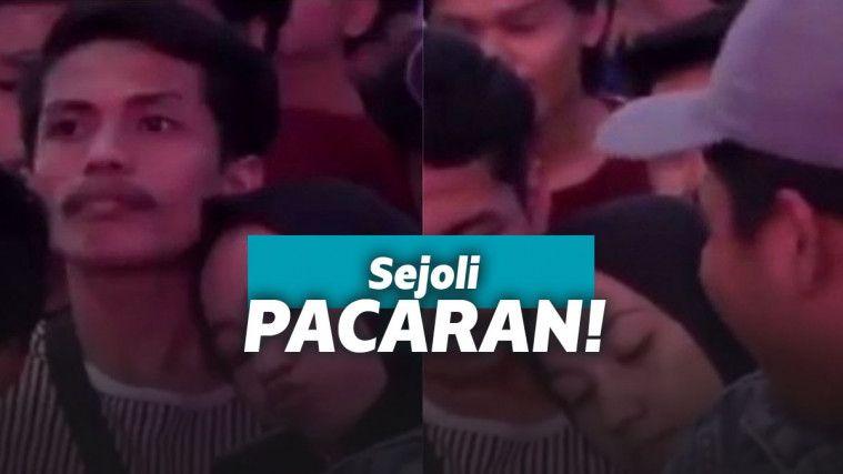 Terciduk, Dua Sejoli Asyik Bermesraan di Tengah Kerumunan, Aksinya Bikin Netizen Iri! | Keepo.me
