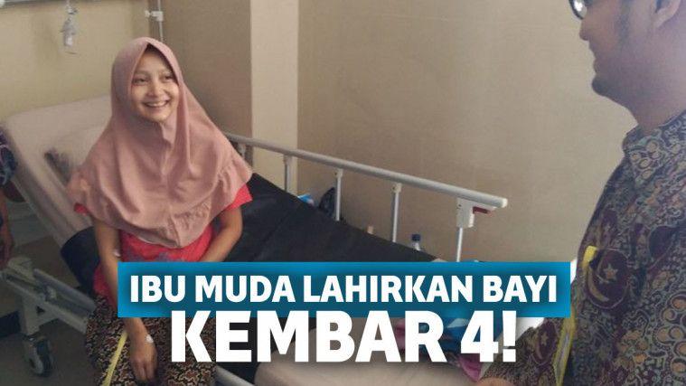 Tak Punya Riwayat di Keluarga, Ibu Muda di Banyumas Lahirkan Bayi Kembar 4! | Keepo.me