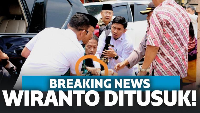Menko Polhukam Wiranto Ditusuk di banten