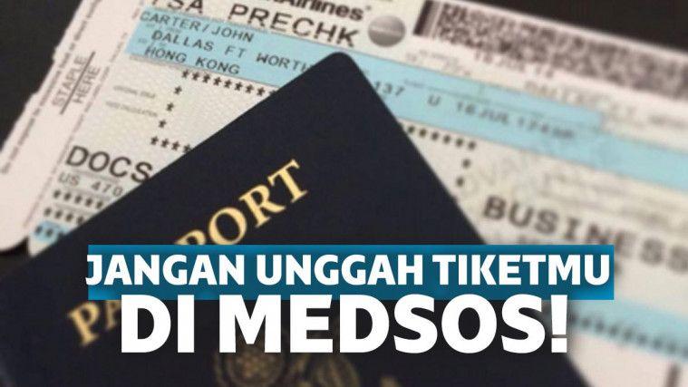 Jangan Pernah Unggah Foto Tiket Pesawat di Media Sosial, Ini Akibatnya! | Keepo.me