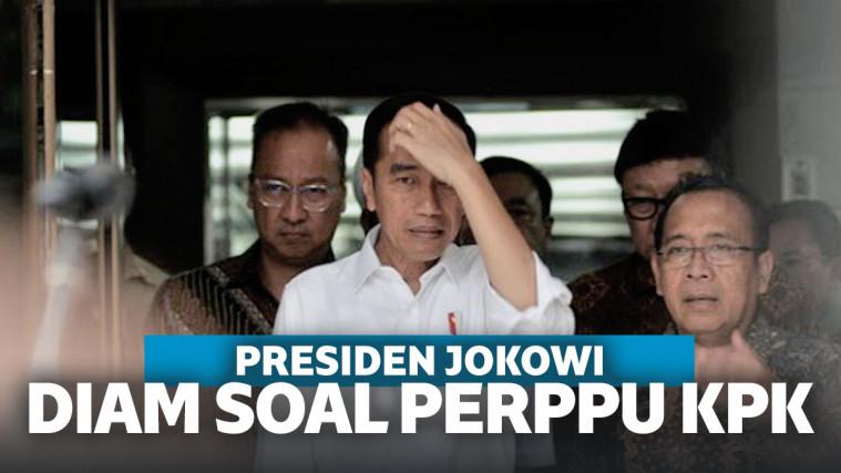Jelang Dilantik, Jokowi Diam Membisu Saat Ditanya Perppu KPK