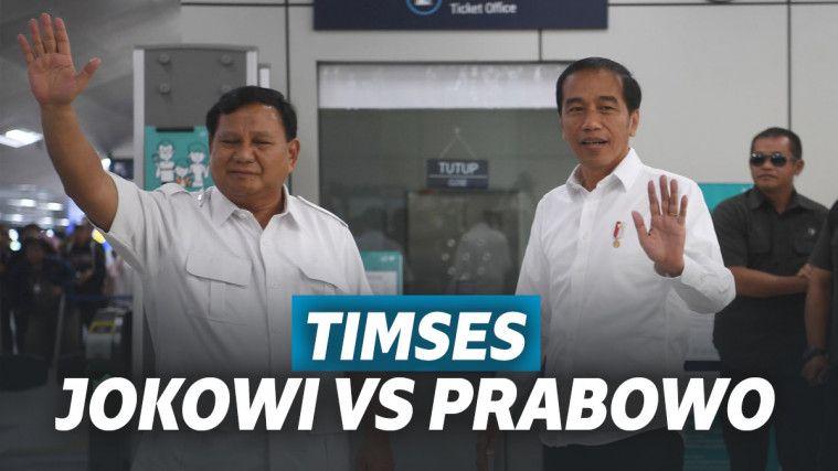 Jenderal Tentara di Kubu Joko Widodo VS. Kubu Prabowo di Timses Pilpres 2019 | Keepo.me