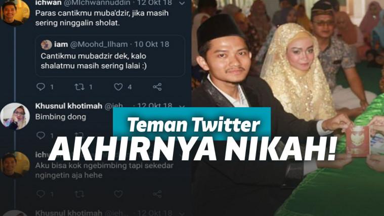 Berawal dari Saling Balas Komentar di Twitter, Pasangan ini Berakhir di Pelaminan! | Keepo.me