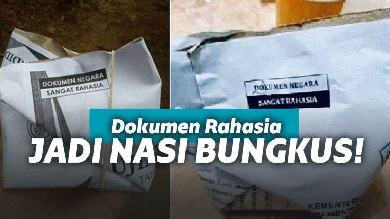 Hebatnya Negeri +62. Dokumen Rahasia Negara Jadi Bungkus Nasi. Netizen Auto Ngakak! | Keepo.me