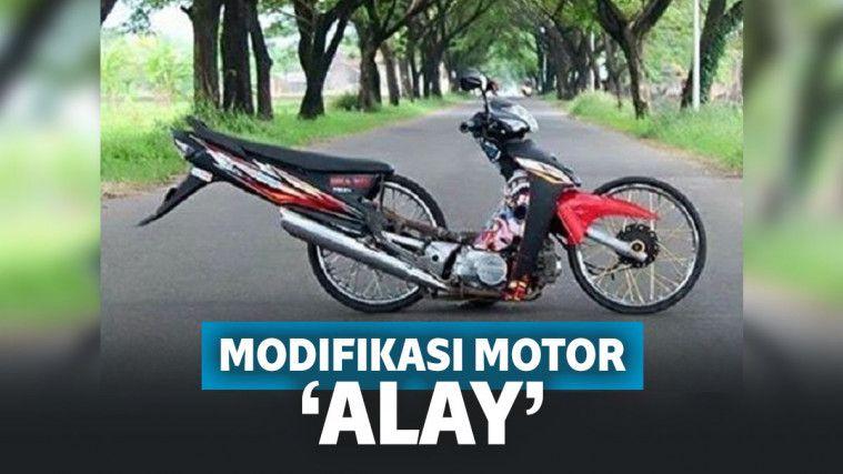 10 Modifikasi Motor 'Alay' Ini Bikin Geleng-geleng Kepala!