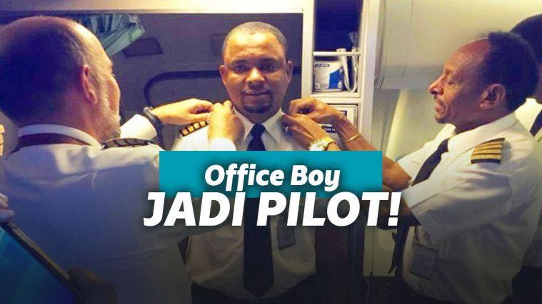 Setelah 24 Tahun Jadi Tukang Bersih-Bersih Pesawat, Pria Ini Diangkat Jadi Pilot! | Keepo.me