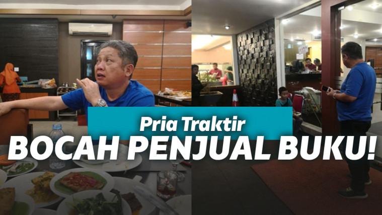 Inspiratif, Seorang Pria yang Traktir Bocah Penjual Buku di Rumah Makan Padang | Keepo.me