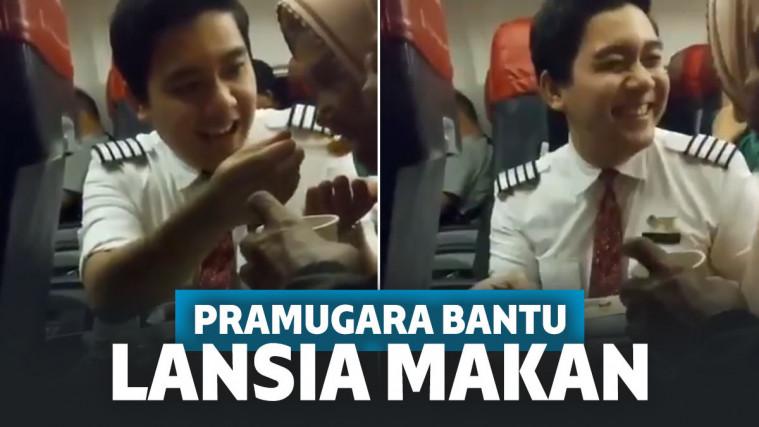 Viral Video Pramugara Lion Air Bantu Lansia Makan, Netizen: Udah Ganteng, Santun Pula | Keepo.me