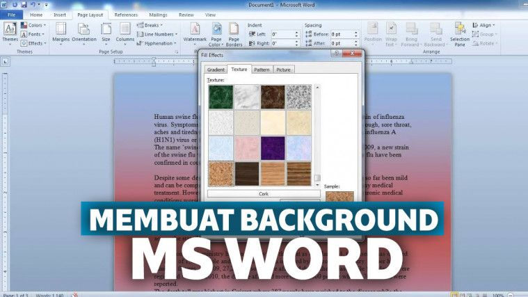 Cara Membuat Background Di Word
