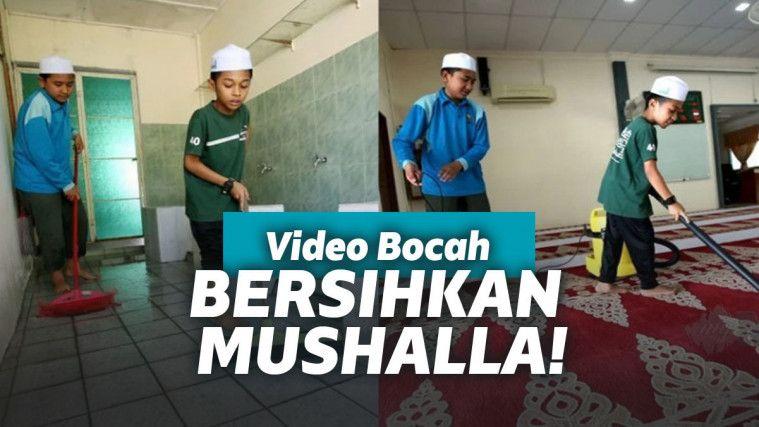 Takut Waktunya Terbuang Percuma, Bocah ini Pilih Bersihkan Musholla | Keepo.me