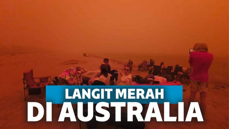 Penuh Asap dan Langit Memerah, Begini Dahsyatnya Kebakaran Hutan di Australia | Keepo.me