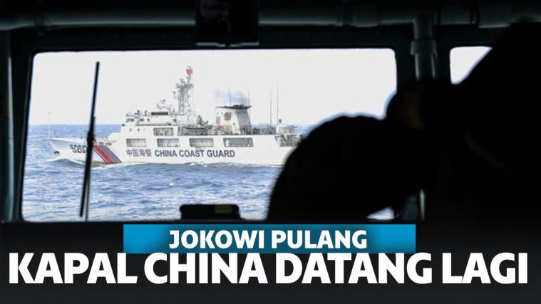 Jokowi Pulang, Kapal China Serbu Natuna Lagi