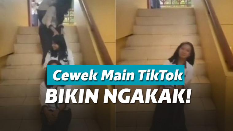 Ngerjain Temen Pake Video Tik-Tok, Aksi Gadis Ini Bikin Ngakak! | Keepo.me