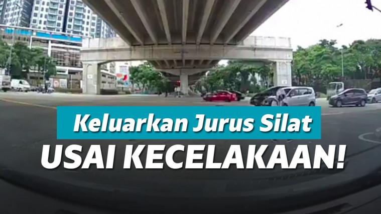 Ditabrak Mobil Sampai Terpelanting Dari Motornya, Cowok Ini Langsung Keluarkan Jurus Silat | Keepo.me
