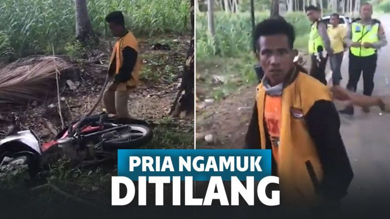 Kesal Ditilang Polisi, Pria Mabuk di Gorontalo Ini Buang Motor ke Semak-Semak | Keepo.me