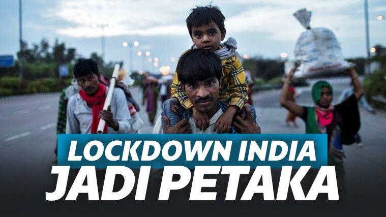 Potret Lockdown India Kacau Balau. Ancaman Kelaparan, Warga Terlantar di Jalanan! | Keepo.me