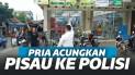 Viral Pria Acungkan Pisau ke Polisi, Ditembak Berkali-Kali Tapi Masih Berdiri