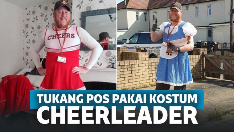 Demi Semangati Warga yang Jalani Karantina, Tukang Pos Ini Antar Paket Pakai Kostum Cheerleader | Keepo.me