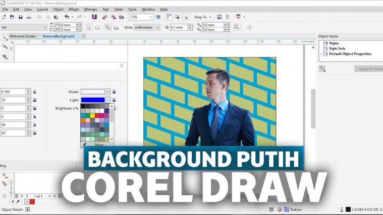 Cara Menghilangkan Background Di Corel Dengan Mudah