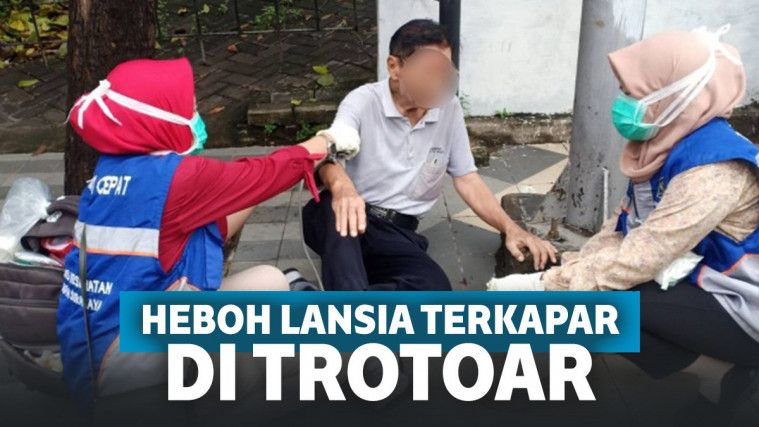 Sedih! Lansia Ini Jatuh dan Kesakitan di Trotoar Surabaya, Tak Ada yang Mau Menolong | Keepo.me
